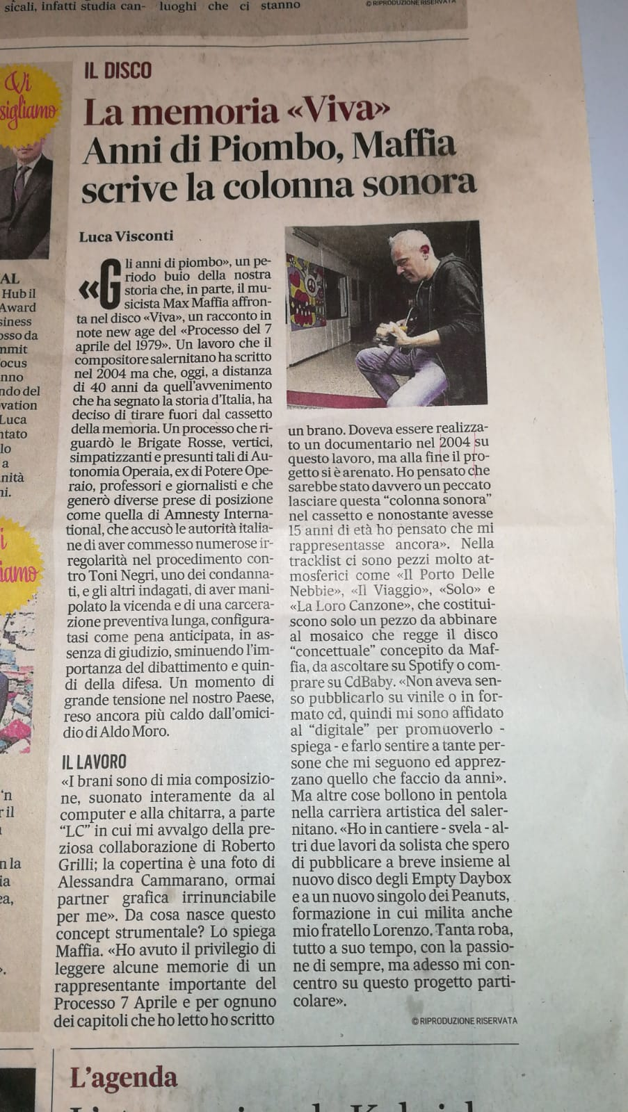 """""""Il Mattino"""" di Salerno – Viva – Recensione"""