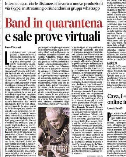 """Su """"Il Mattino"""" nelle parole di Luca Visconti"""